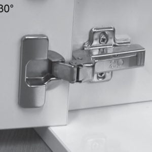 """TOP LINE"" 30° angle corner cabinet hinge"