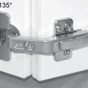 """TOP LINE"" Pie-cut corner hinge"