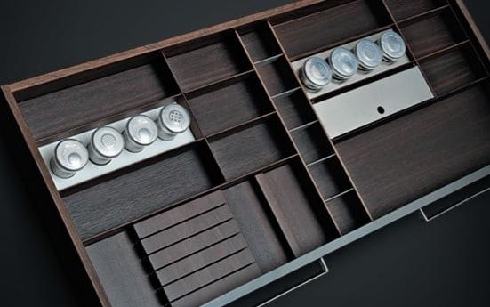 Wooden cutlery trays FINE LINE 3