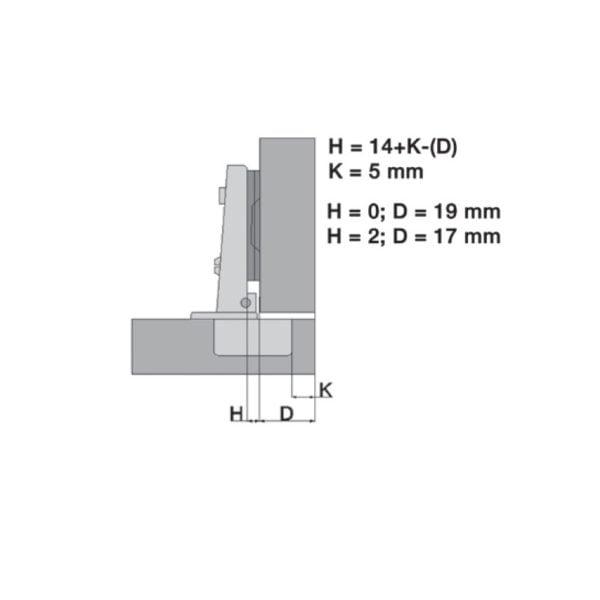 """Overlay hinge """"Basic QS"""" 110° 1"""