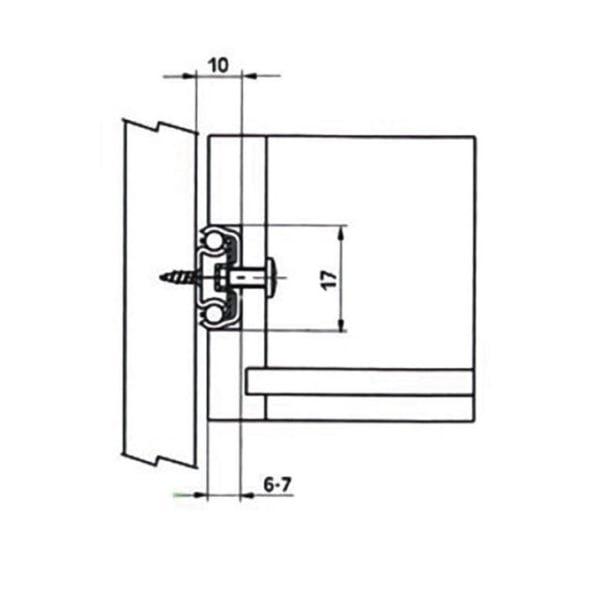 Ball bearing slides H17, 12 kg