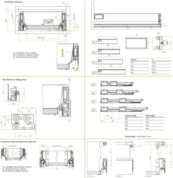 """""""TEN"""" inner drawer H-90 mm"""