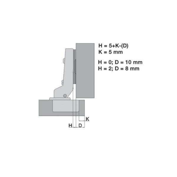 "Half overlay hinge ""Basic QS"" 110° 1"