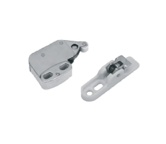 """Touch latch"" system for unsprung hinges"