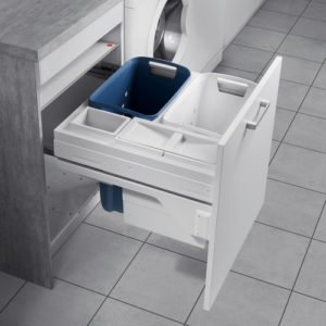 Pull out system for laundry, for 600 mm cabinet