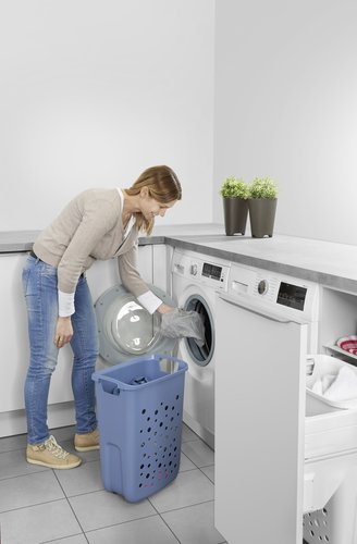 Pull out system for laundry