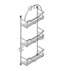 Vacuum cleaner accessory rack CLASSIC