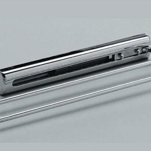 Built-in towel rail with 2 bars