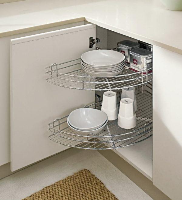 Corner carousel (half) for 900 mm cabinet