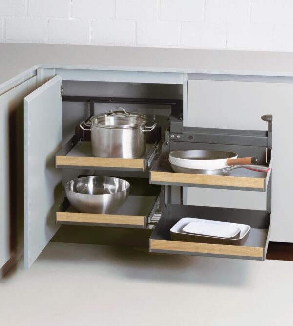 Magic Corner Comfort with FIORO shelves 3