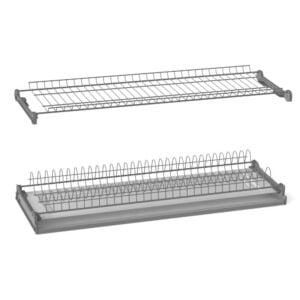 Two shelves dish racks chrome plated with aluminum frame
