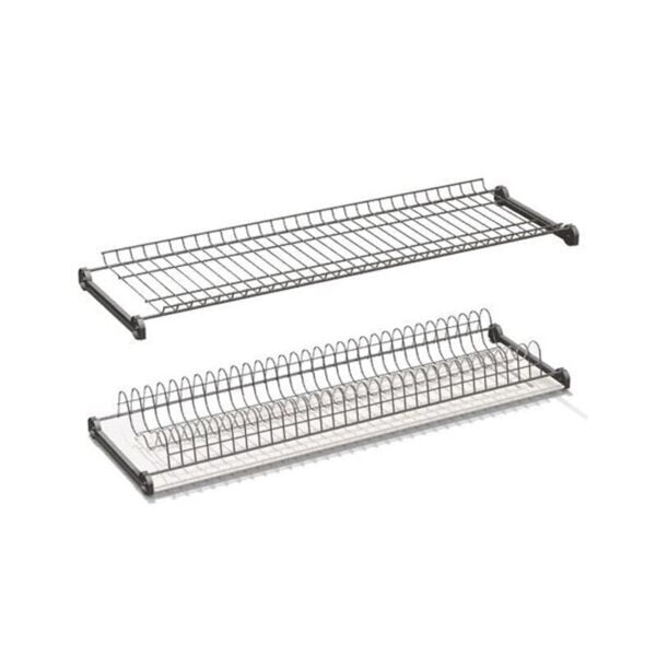 Two shelves dish racks chrome plated without aluminum frame