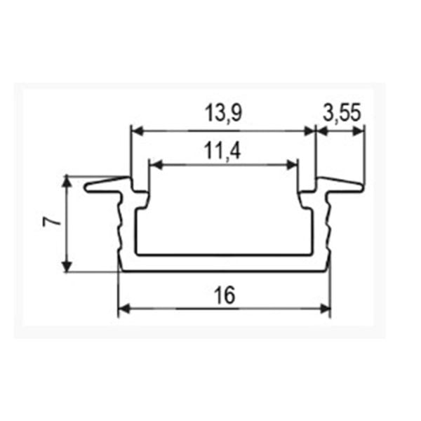 LED profile for recess mounting Groove