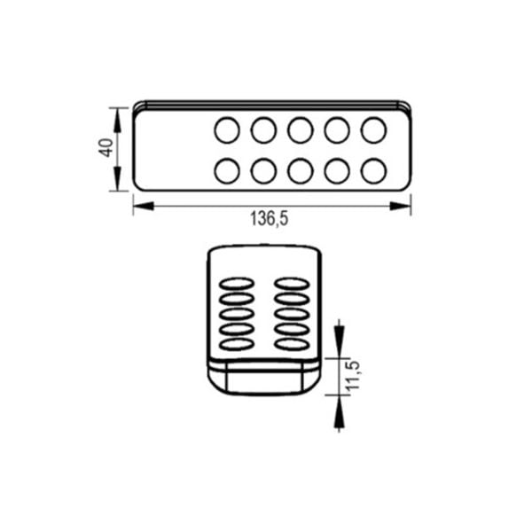 5 zones RF easy remote dimmer switch