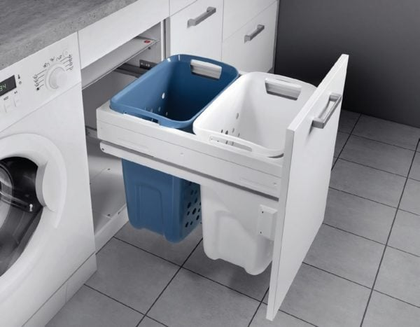 Pull out system for laundry, for 450 mm cabinet