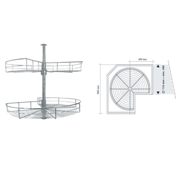 3/4 carousel, for 800/900 mm width