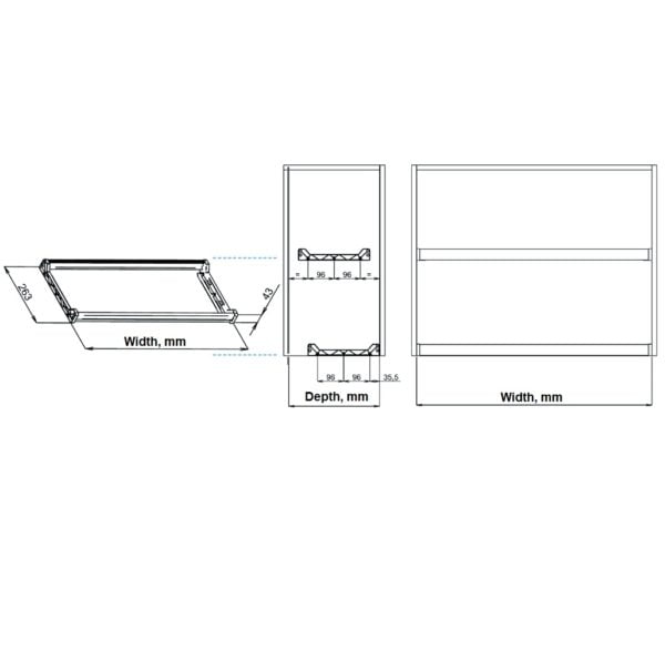 Two shelves dish racks with 2 aluminum frames 3