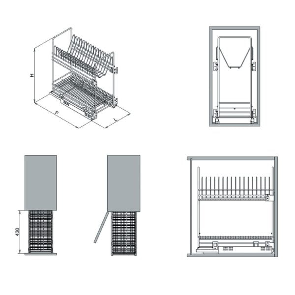 Pull out dish rack - cargo basket 3