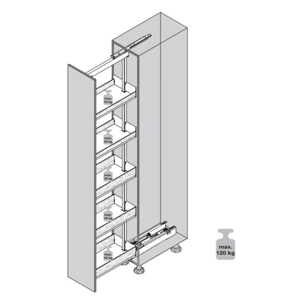 System 495 with shelves LIBELL 4