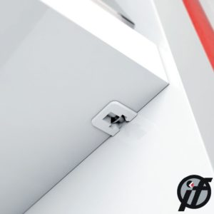 Shelf locking support FLIPPER with euro screw