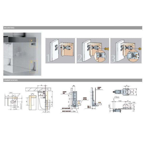 "Set of hangers ""ATLAS"" for base cabinets 5"