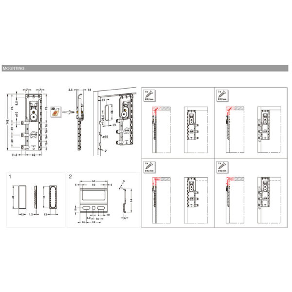Concealed cabinet hanger 816