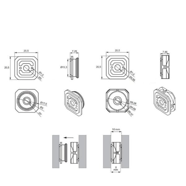 """Wall panel connector """"Click"""""""