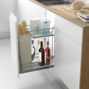Pull-out bottle-bread basket COMPACT