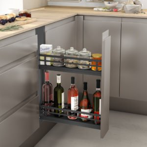 Pull-out bottle side runners FLAT