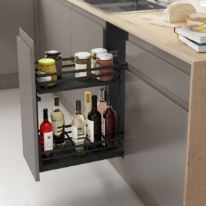 Pull-out bottle basket FLAT