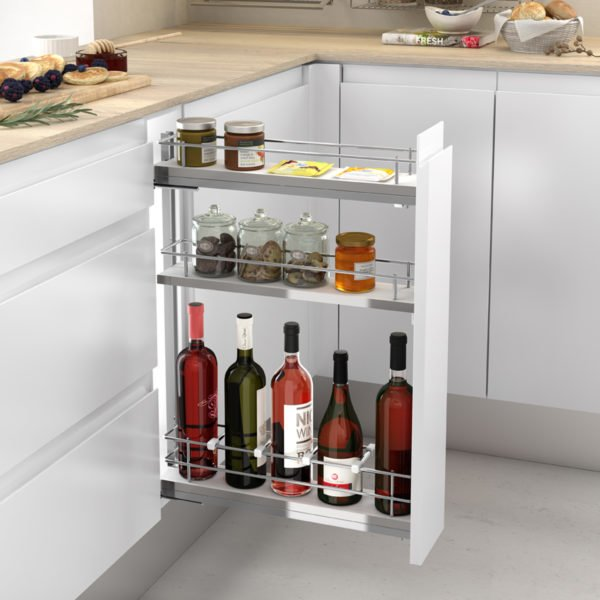 Pull-out bottle side runners COMPACT