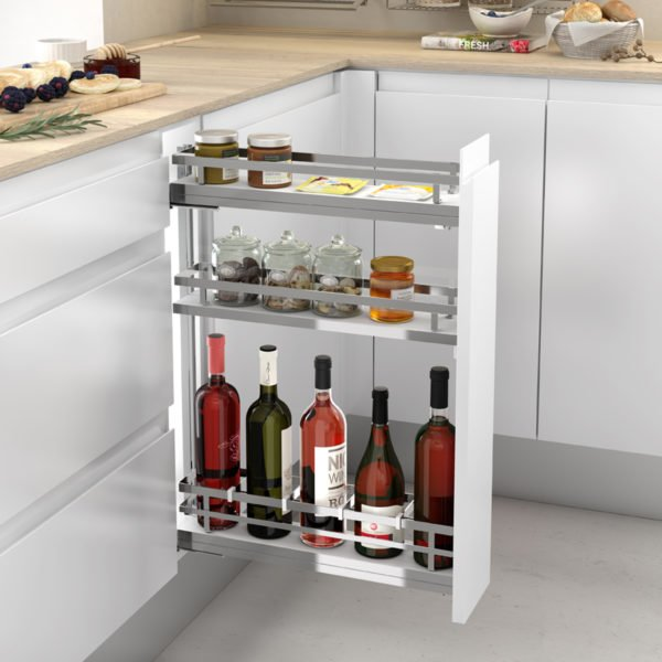"Pull-out bottle side runners ""Menage confort FLAT"""