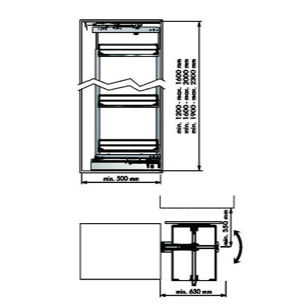 "Swivel pull-out frame ""Menage confort COMPACT"""
