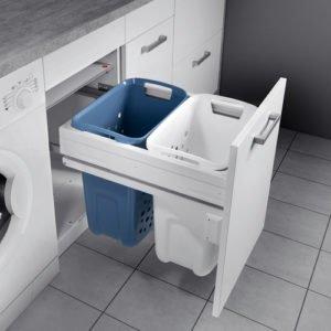 Pull out system for laundry, for 500 mm cabinet