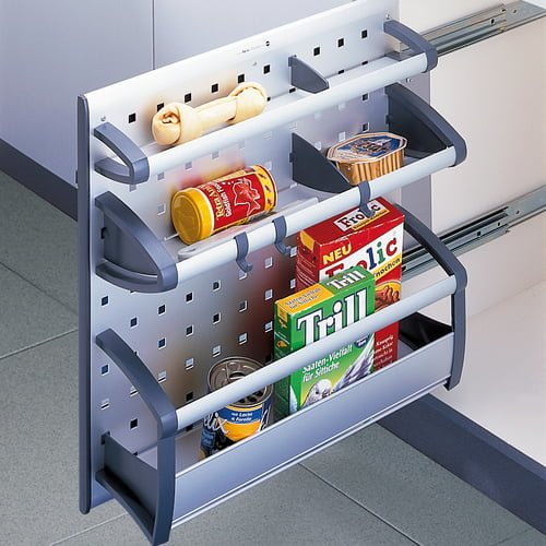 Pull-out shelf for homeware