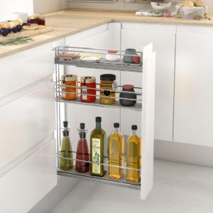 Bottle pull-out with 3 shelves