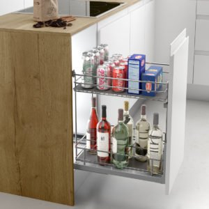 Pull-out bottle basket CLASSIC