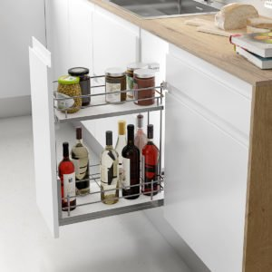 Pull-out bottle basket COMPACT