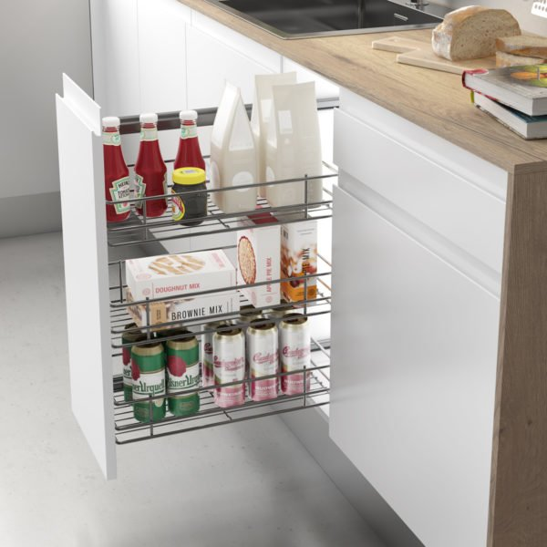 Pull-out frame side runners CLASSIC for 200-400 mm cabinet