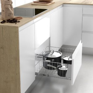 Pull-out saucepan basket CLASSIC
