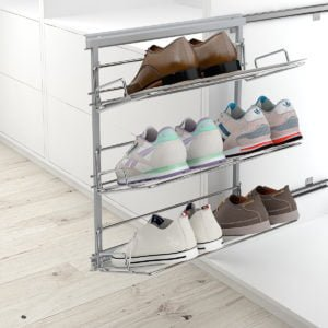 Pull-out frame shoe holder