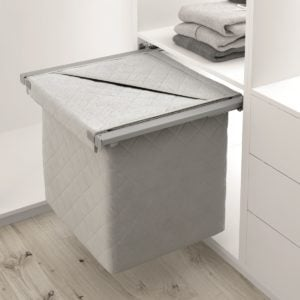 Pull-out laundry basket