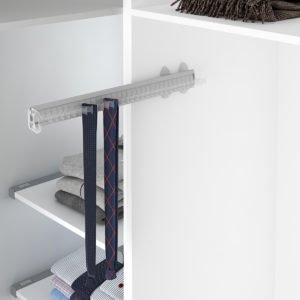 Pull-out tie-belt holder