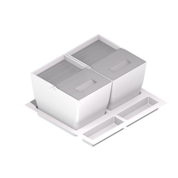 "Ecological waste bin ""Menage confort"" WHITE"
