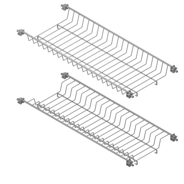 Dish and glass rack set CLASSIC 1