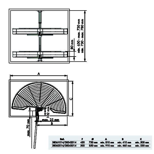 180º swivel basket CLASSIC 2