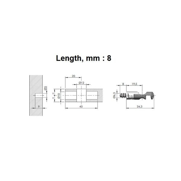 TARGET J12 connecting fitting screw, euro 5