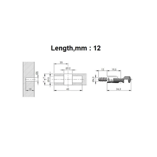 TARGET J12 connecting fitting screw, euro 4
