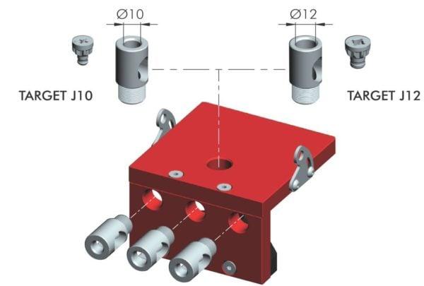 Bushing drilling guides M16 for srews J10 and J12