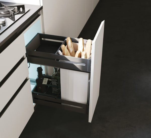 QUADRA Pull out bread rack with soft closing